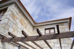 O frame de madeira de um grande ne Fotografia de Stock