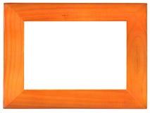 O frame de madeira velho no branco Imagem de Stock Royalty Free