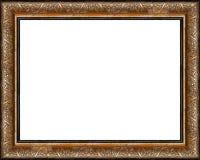 O frame de retrato dourado escuro rústico antigo isolou-se Imagem de Stock Royalty Free