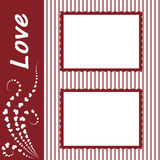 O frame do dia do Valentim para Fotos de Stock Royalty Free