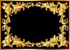 O frame do teste padrão do fundo da ilustração de doura Imagens de Stock