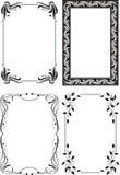 O frame floral ajustou 4 ilustração do vetor