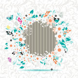 O frame floral, introduz sua foto aqui Fotografia de Stock Royalty Free