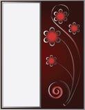 O frame sob a forma do ornamento floral Foto de Stock
