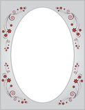 O frame sob a forma do ornamento floral Imagem de Stock