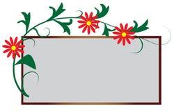 O frame sob a forma do ornamento floral Fotografia de Stock