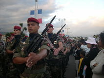 Soldados armados Fotos de Stock Royalty Free