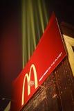O francês de McDonalds frita o quadro de avisos das luzes Fotografia de Stock