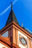 O francês reformou a igreja no cano principal de Offenbach am perto de Francoforte, Alemanha foto de stock