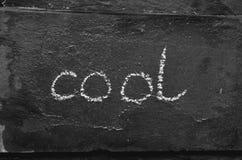 O fresco da palavra escrito com giz na pedra preta Imagem de Stock