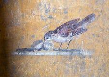 O fresco na construção da parede permanece, Di Pompeia de Scavi imagens de stock