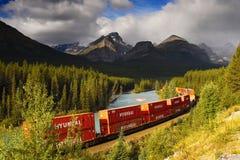 O frete Railroads o transporte, trem do recipiente Imagem de Stock
