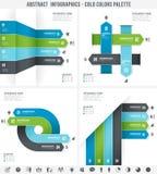 O frio colore Infographics abstrato Foto de Stock Royalty Free