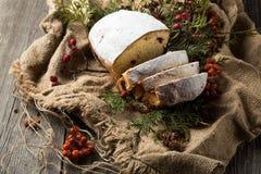 O fruto de Stollen, Natal stollen Imagem de Stock Royalty Free