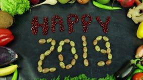 O fruto 2019 feliz para o movimento Foto de Stock
