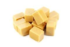 O Fudge do caramelo obstrui doces Fotos de Stock Royalty Free