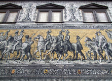 O Fuerstenzug em Dresden Imagens de Stock Royalty Free
