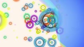 O fulgor colorido do voo abstrato circunda a animação das partículas ilustração royalty free