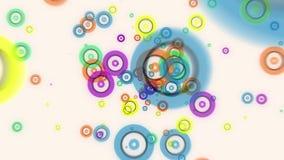 O fulgor colorido do voo abstrato circunda a animação das partículas ilustração do vetor
