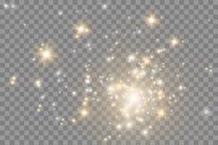 O fulgor isolou o grupo do efeito da luz, o alargamento da lente, a explosão, o brilho, a linha, o flash do sol, a faísca e as es ilustração royalty free
