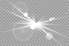 O fulgor isolou o grupo do efeito da luz, o alargamento da lente, a explosão, o brilho, a linha, o flash do sol, a faísca e as es ilustração stock