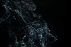 O fumo é uma coleção de relativo à partícula ínfima contínuos e líquidos transportados por via aérea Fotografia de Stock Royalty Free