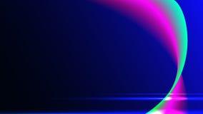 O fundo é azul com rosa e linhas curvadas verde Imagem de Stock Royalty Free
