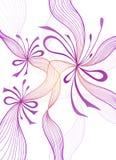 O fundo abstrato claro bonito com flores do laço curva o lilás no branco ilustração stock