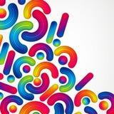 O fundo abstrato colorido com elementos listrados do projeto espirra ilustração royalty free
