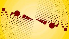 O fundo abstrato com mover linhas de incandescência digitais representa o conceito do cabo de fibra ótica Halo abstrato da micro- ilustração do vetor