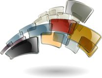 O fundo abstrato da cor Imagem de Stock