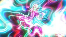 O fundo abstrato da energia do fulgor com efeitos visuais da ilusão e da onda, 3d rende a geração do computador Fotografia de Stock Royalty Free