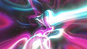O fundo abstrato da energia do fulgor com efeitos visuais da ilusão e da onda, 3d rende a geração do computador Ilustração do Vetor