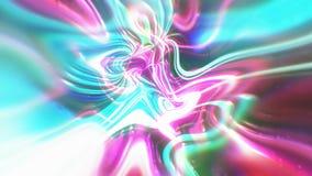 O fundo abstrato da energia do fulgor com efeitos visuais da ilusão e da onda, 3d rende a geração do computador Imagem de Stock