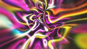 O fundo abstrato da energia do fulgor com efeitos visuais da ilusão e da onda, 3d rende a geração do computador Foto de Stock