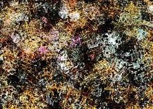 O fundo abstrato do grunge dos pontos borrados caóticos da cor escova cursos de tamanhos diferentes na lona textured foto de stock