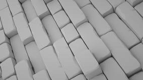 O fundo abstrato dos tijolos, 3 d rende Fotos de Stock