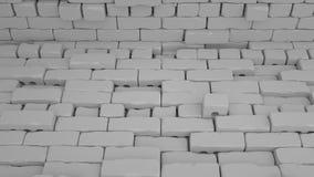 O fundo abstrato dos tijolos, 3 d rende Fotografia de Stock