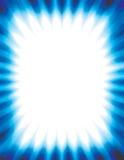 O fundo abstrato irradia o azul Imagem de Stock