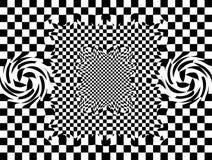 O fundo abstrato monocromático preto e branco Imagem de Stock