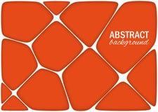 O fundo alaranjado brilhante geométrico volumétrico com esboço expulsa efeito Fundo abstrato do vetor 3d Fotos de Stock