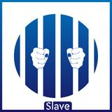 O fundo azul-branco do escravo EPS Imagens de Stock
