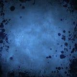 O fundo azul do grunge com chapinha Fotos de Stock Royalty Free