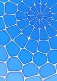 O fundo azul geométrico volumétrico com esboço expulsa efeito Fundo abstrato do vetor 3d Imagens de Stock