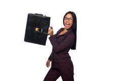 O fundo branco isolado conceito da mulher de negócios da mulher Imagem de Stock Royalty Free