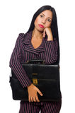 O fundo branco isolado conceito da mulher de negócios da mulher Imagens de Stock Royalty Free
