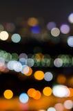 O fundo circular abstrato do bokeh do Natal e o ano novo iluminam-se imagem de stock royalty free