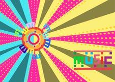 O fundo colorido abstrato da música é uma linha da distribuição Vetor Ilustra??o ilustração do vetor