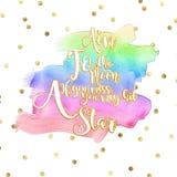 O fundo colorido do texto com branco e o ouro text o efeito e as cores do arco-íris ilustração royalty free