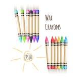 O fundo colorido do vetor com dois grupos de cera escreve ilustração stock